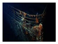Titanic Wreckage Underwater Framed Print