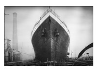 Titanic at the Thompson Graving Dock Framed Print