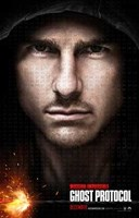 Mission: Impossible - Ghost Protocol Tom Cruise Wall Poster