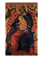 Madonna and Child with two Votaries Fine Art Print