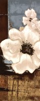 """White Poppies Panel II by Patricia Pinto - 8"""" x 20"""""""