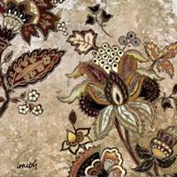 """European Floral on Beige II by Lanie Loreth - 12"""" x 12"""""""