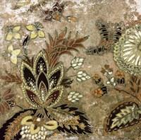 """European Floral on Beige I by Lanie Loreth - 12"""" x 12"""""""