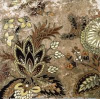 """European Floral on Beige I by Lanie Loreth - 6"""" x 6"""""""