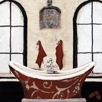 Red Villa Bath I Fine Art Print
