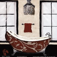 Red Villa Bath II Fine Art Print