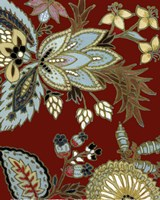 "Red European Floral I by Lanie Loreth - 8"" x 10"""