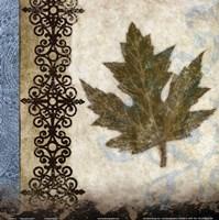 "decorative leaf II by Michael Marcon - 12"" x 12"""