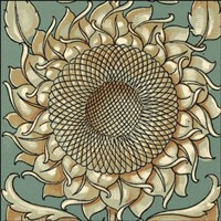 Sunflower Woodblock I - various sizes