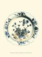 """Blue & White Porcelain Plate I - 10"""" x 13"""""""