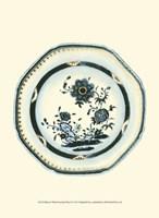 "Blue & White Porcelain Plate II - 10"" x 13"""