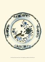 """Blue & White Porcelain Plate IV - 10"""" x 13"""""""