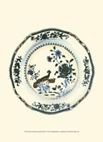 Blue & White Porcelain Plate IV Fine Art Print