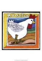 Whimsical Rooster Framed Print