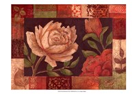 "Floral Patchwork I by Megan Meagher - 19"" x 13"""