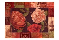 """Floral Patchwork II by Megan Meagher - 19"""" x 13"""""""