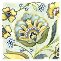 Decorative Golden Bloom III Fine Art Print