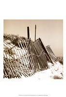 Fences in the Sand I Fine Art Print