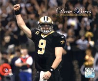 "Drew Brees Sets the NFL Single-Season Passing Yards Record with Overlay - 10"" x 8"", FulcrumGallery.com brand"