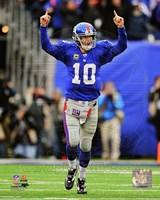 Eli Manning 2011 NFC Wild Card Playoff Action Fine Art Print