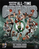 "Boston Celtics All Time Greats Composite - 8"" x 10"" - $12.99"