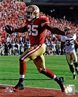 Vernon Davis Touchdown Catch NFC Divisional Playoff Game Action Fine Art Print