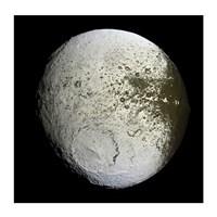 Saturn's Moon Lapetus Fine Art Print
