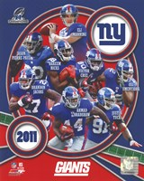 New York Giants 2011 NFC Champions Team Composite Fine Art Print