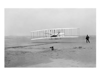 First Successful Flight of the Wright Flyer Framed Print