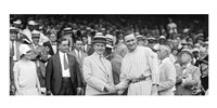 US President Calvin Coolidge Presenting the American League Diploma to Walter Johnson - various sizes