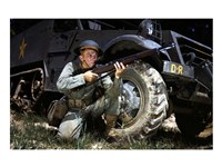 Infantryman with M1 Garand, Fort Knox, KY, 1942, 1942 - various sizes