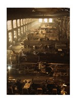 North Western Railway Locomotive Shops, Chicago, Illinois Fine Art Print