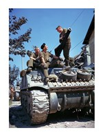 Crew of a Sherman Tank Fine Art Print