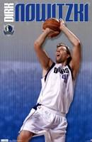 """Mavericks - D Nowitzki 11 - 22"""" x 34"""""""