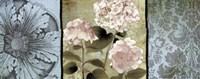 "Pink Hydrangeas Panel II by Elizabeth Medley - 20"" x 8"""