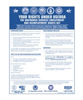 USERRA Uniformed Services Employment and Reemployment Rights Act - various sizes - $15.49