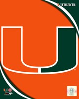 University of Miami Hurricanes Team Logo Fine Art Print