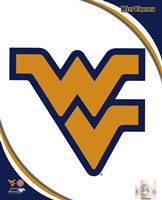 West Virginia University Mountaineers Team Logo Fine Art Print