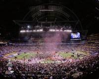 Lucas Oil Stadium after the New York Giants won Super Bowl XLVI Fine Art Print