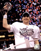 Eli Manning with the Vince Lombardi Trophy Super Bowl XLVI Fine Art Print