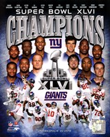 New York Giants Super Bowl XLVI Champions Composite Fine Art Print