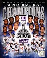 New York Giants Super Bowl XLVI Champions Composite Framed Print