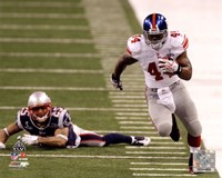Ahmad Bradshaw Super Bowl XLVI Running Action Fine Art Print