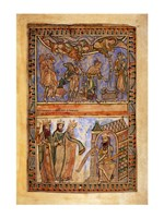 The Annunciation to the Shepherds and the Magi before Herod Fine Art Print