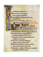 Initial L from Psalm 118, verse 109th In Albani Psalter - various sizes