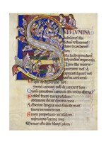 Psalm 136,  Initial S In Albani Psalter Fine Art Print