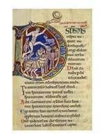 Psalm 136, Initial D In Albani Psalter Fine Art Print