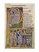Our Father, initial P In Albani Psalter - various sizes