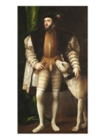 Emperor Carlos V with a Dog - various sizes