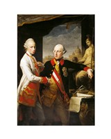 Portrait of Emperor Joseph II and his younger brother Grand Duke Leopold of Tuscany - various sizes